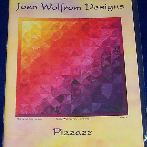 Pizzazz Joen Wolfrom Designs Pattern 4 Different Size Quilts