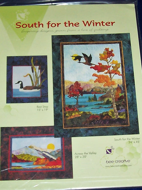 South for the Winter bee creative Pattern 3 Different Quilts