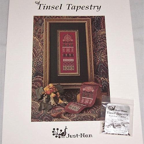 Cross Stitch Pattern Just Nan Tinsel Tapestry + Bead Pack