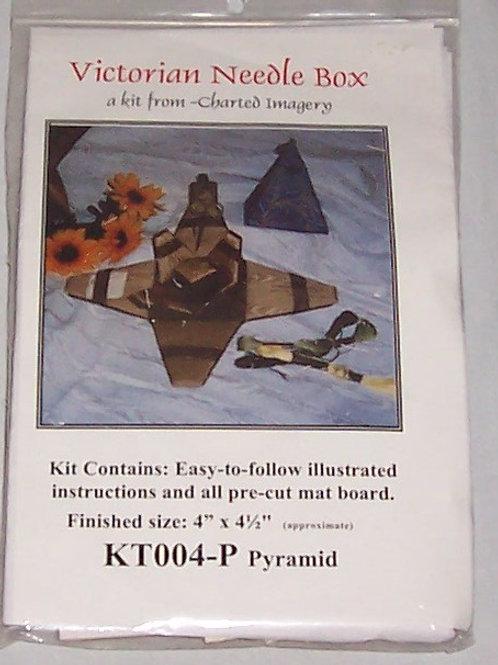 "Needlebox Kits Victorian Needle Box Pyramid Finished Size 4""X4-1/2"""