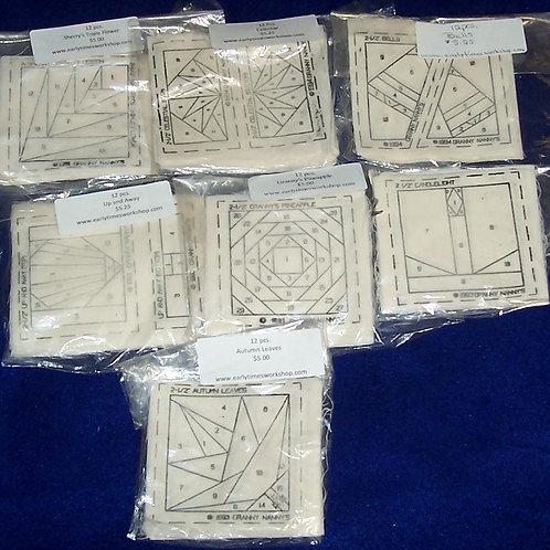 "Sherry Barnett Designs 2-1/2"" Granny Nanny's Mini Quilt Blocks (84 Pcs)"