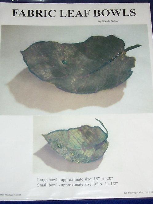 """Fabric Leaf Bowls Wanda Nelson Pattern Small 9X11-1/2"""" Large15""""X20"""""""