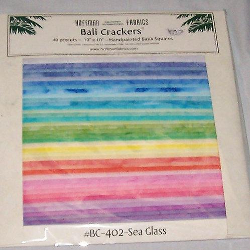 "Hoffman Batik Bali Crackers 402-Sea Glass 40 Pre-Cut Squares 10""X10"""