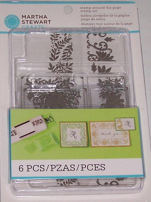 Stamp Around the Page Stamp Set 6 Pcs Martha Stewart