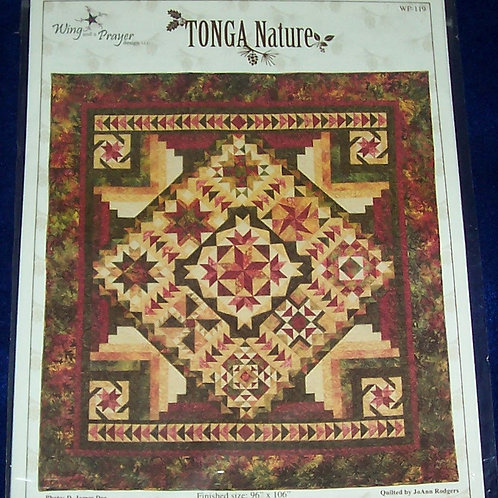 "Tonga Nature Wing and a Prayer Design Pattern 96""X106"""