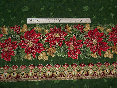 Robert Kaufman Holiday Flourish III Peggy Toole Japan Poinsettia 1-7/8Yards