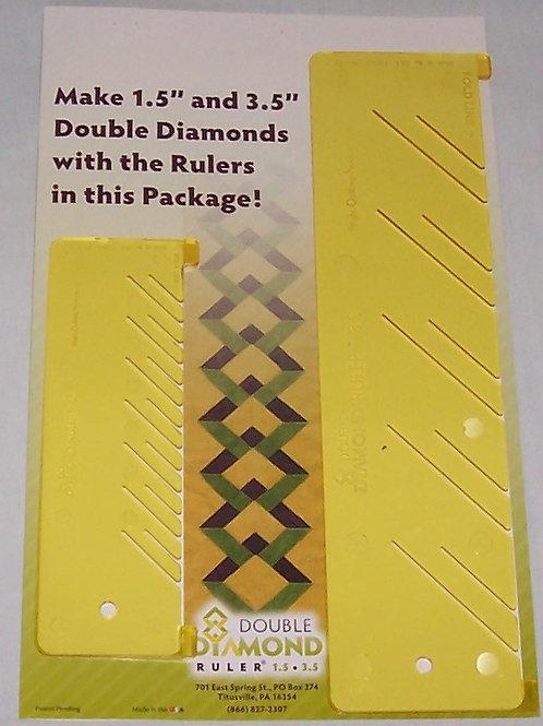 Kim Templin Set of 2 Double Diamond Rulers 1.5 & 3.5