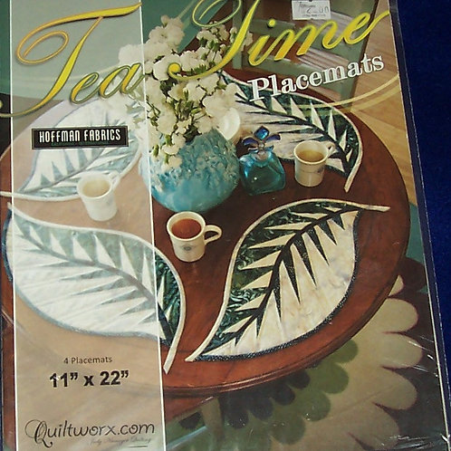 "Tea Time Placemats Judy Niemeyer Pattern 11""X22"""