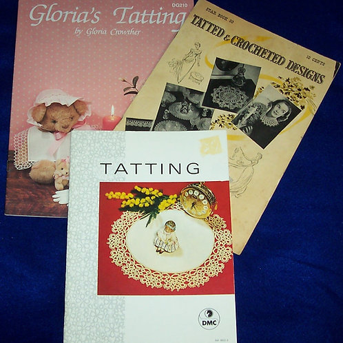 Gloria's Tatting + Tatting DMC and Tatted & Crocheted Designs Booklets