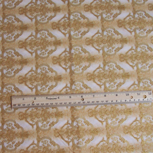 Robert Kaufman La Scala Metallic Gold D-5859 1 Yard Fabric