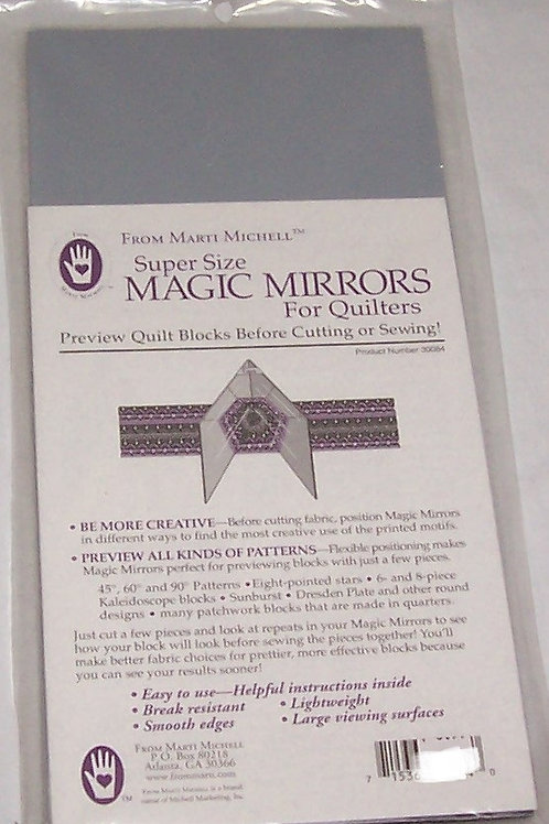 Marti Michell Super Size Magic Mirrors for Quilters Preview Quilt Blocks