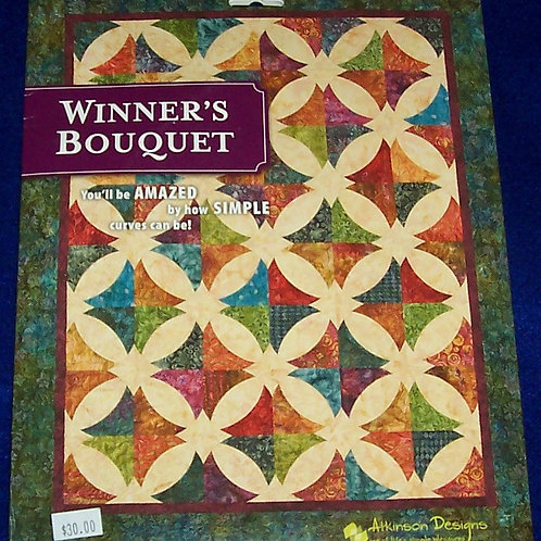 Winner's Bouquet Pattern 5 Different Sizes Includes 3 Acrylic Template