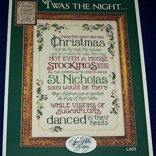 Price Change for Customer Cross Stitch Pattern Sue Hillis 'Twas The Night...