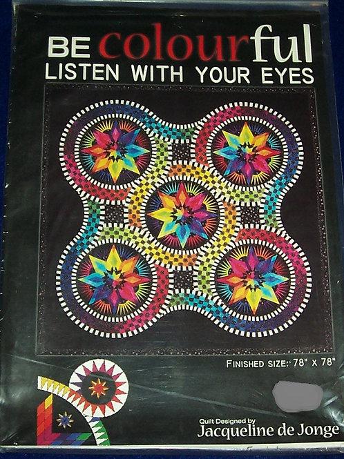 """Listen With Your Eyes Jacqueline de Jonge Pattern 78""""X78"""""""