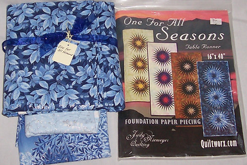"Judy Niemeyer One For All Seasons Table Runner Pattern and Fabric Kit 16""X40"""