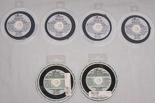Clover Fusible Bias Tape Quick Bias - 2 Black Marble - 4 Lead