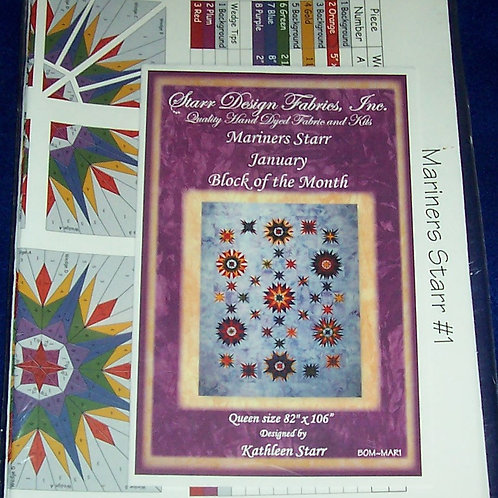 Mariners Starr Block of the Month 12 Patterns Kathleen Starr