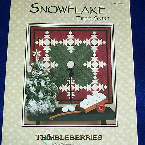 "Snowflake Tree Skirt Lynette Jensen Thimbleberries Pattern 57"" Square"