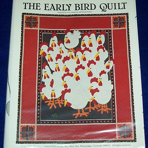 "The Early Bird Quilt Faye Anderson Hank Parker Pattern 48""X58"""