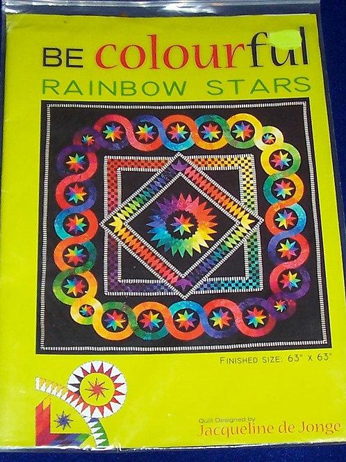 """Rainbow Stars Jacqueline de Jonge Pattern 63""""X63"""""""