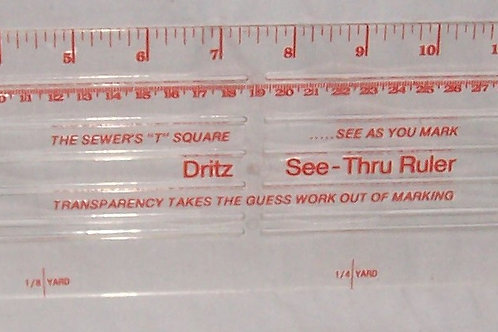Dritz See - Thru Ruler The Sewer's 'T' Square See As You Mark