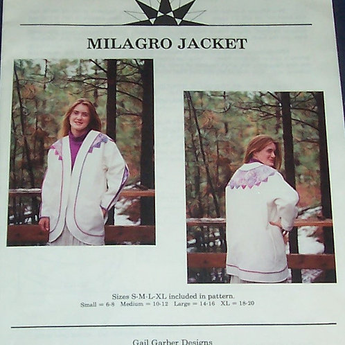 Milagro Jacket Pattern Gail Garber Designs Sizes Small to X-Large