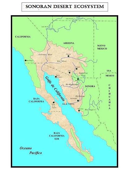 Range of Sonoran Desert ecosystem