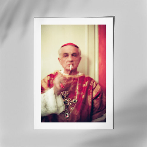 """Photo print signed - """"Cardinal"""""""