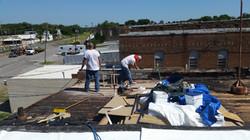 Hard working roofing contractor