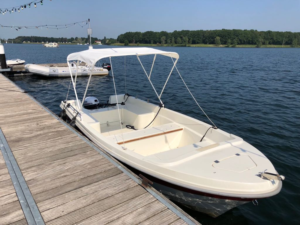 Motorboot + top + trap