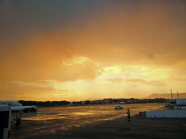 Corfu Airport Sunset