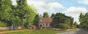 Brampton Bryan Church - Oil on B - £260