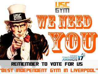 Remember to Vote for us - The Best Independent Gym In Liverpool