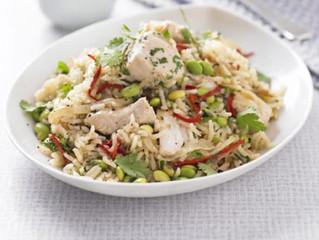 Healthy Eating- Chicken, edamame & ginger pilaf