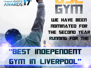 Nominated for the 2nd year running! -Liverpool Fitness Professional Awards