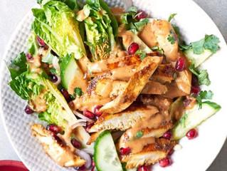 Healthy Eating- Chicken satay salad