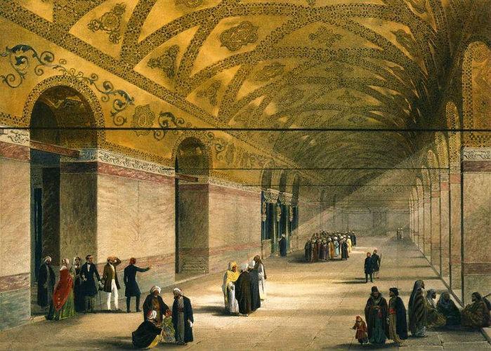 Hagia Sophia Inner Narthex, 1852, Gaspar