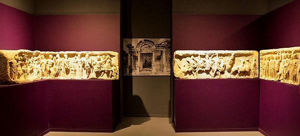 Original frieze slabs from the Temple of Hadrian in Ephesus Museum