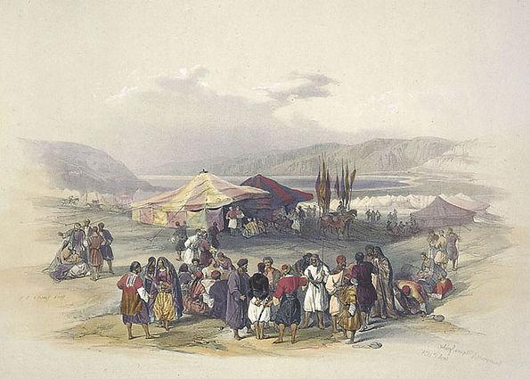 1839 Encampment of Pilgrims, Jericho col
