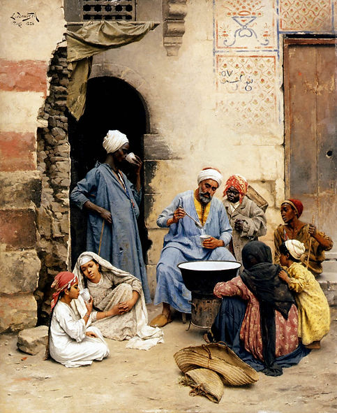 The sahleb vendor, Cairo  Ludwig Deutsch
