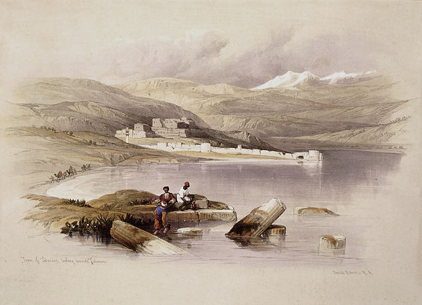1839 Town of Tiberias Looking Towards Le