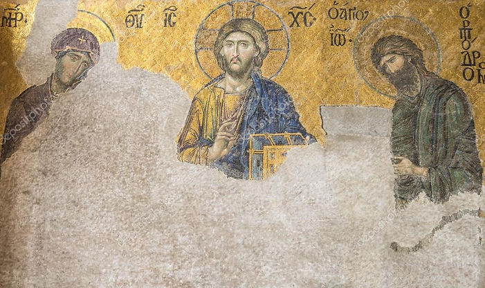 13th century Deesis Mosaic of Jesus Chri