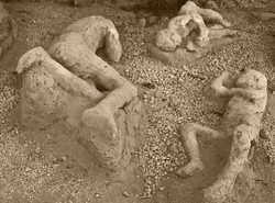 pompei people undeer lava