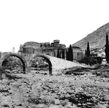 A photo of bergama from 1880 , serapeion is at the back wiew