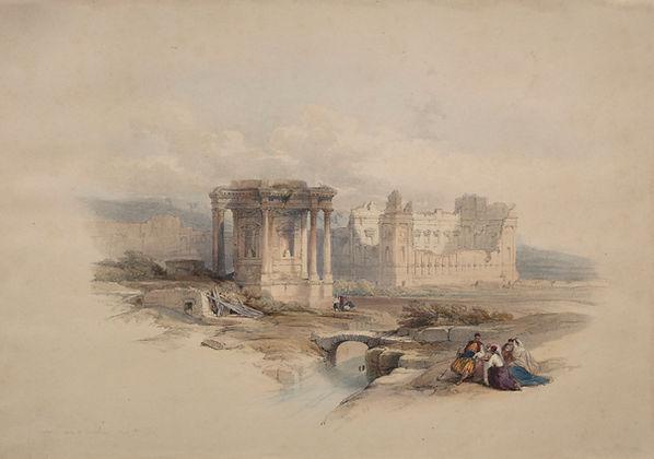 1839 Circular Temple at Baalbec colour l