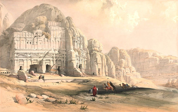 1839_Petra,_Eastern_End_of_the_Valley_co