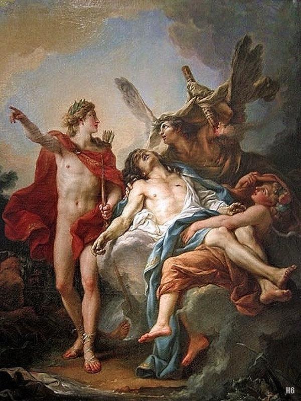 Jean Simon Berthelemy - Apollo and Sarpe