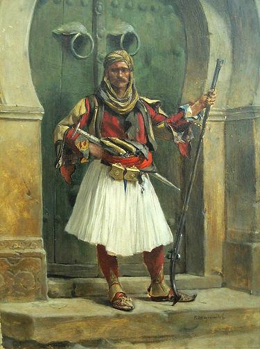 A Northern Albanian Guard 1884..jpg