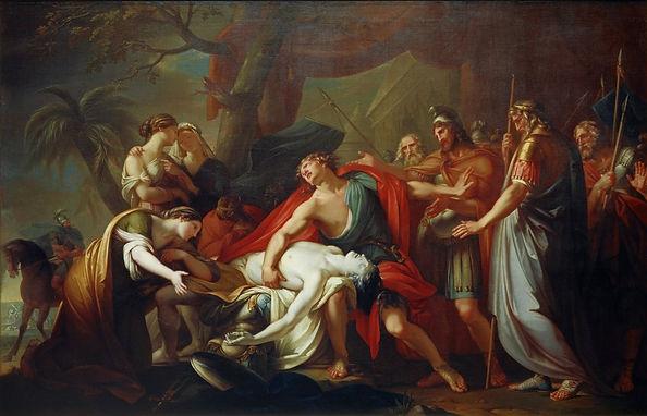 Achilles Lamenting the Death of Patroclu