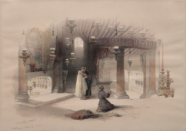 1839 Shrine of the Nativity, Bethlehem c
